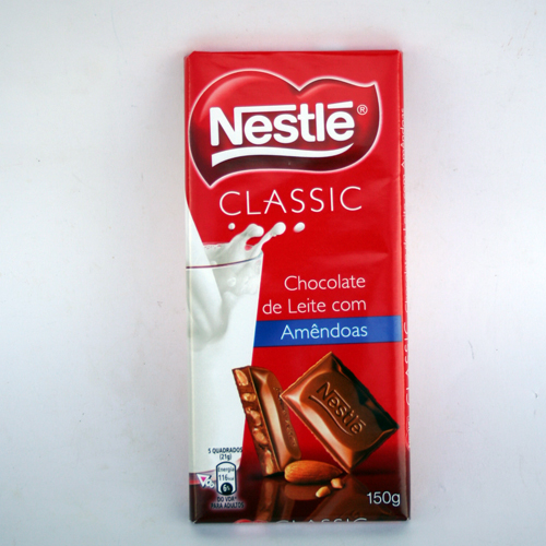 Chocolate Nestle Classico c/amendoas 123gr